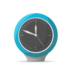 Modern blue analog clock icon vector