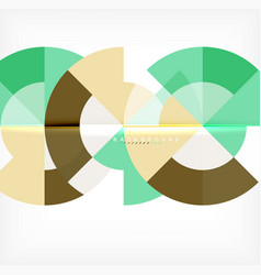 modern circle abstract background vector image
