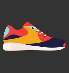 modern sneaker for everyday wear vector image