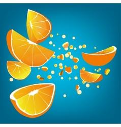 Orange explosion vector