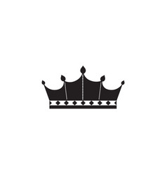 Ornate crown silhouette isolated on white vector