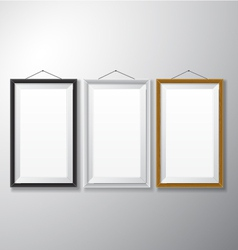 Picture Frames Black White Wooden vector