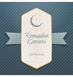 Ramadan Kareem Eid Mubarak realistic Poster vector