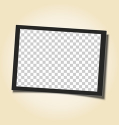 retro frame with black border and transparent vector image