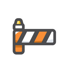road classical barrier icon cartoon vector image