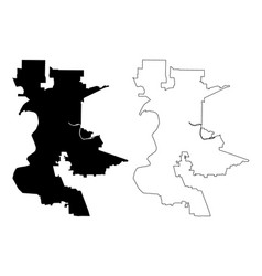 Sacramento city map vector