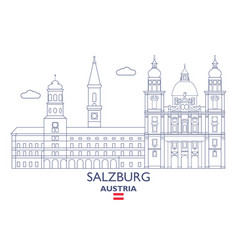salzburg city skyline vector image