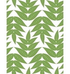 seamless pattern from green leaves vector image