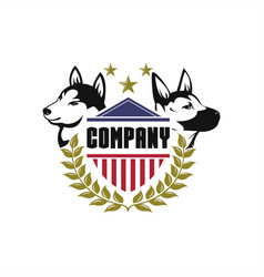 security dog logo vector image