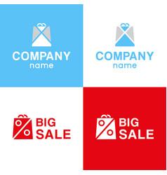 set logo of big sale vector image