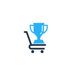 Shop trophy logo icon design vector
