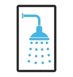 Shower Framed Icon vector image