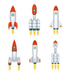space exploration rocket cosmos spaceship future vector image
