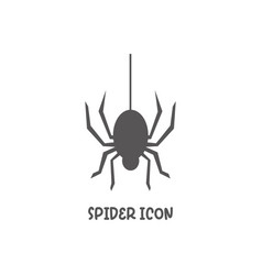 Spider icon simple flat style vector