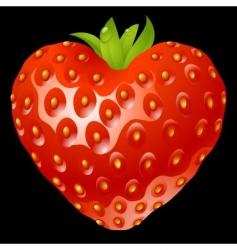 Strawberry heart vector