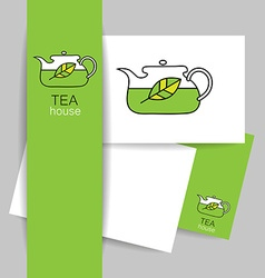 tea house template vector image