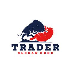 trader logo template vector image