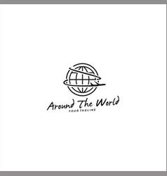 Travel logo template design idea vector