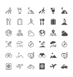 Traveling icons vector