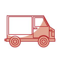 van delivery service icon vector image