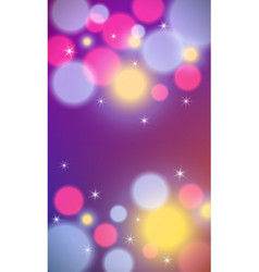 Vertical background with bokeh lights vector