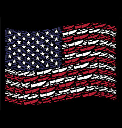 Waving united states flag stylization of surgery vector