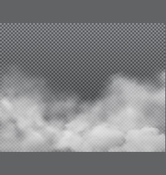 white fog or clouds on transparent background vector image