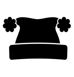 winter hat silhouette vector image