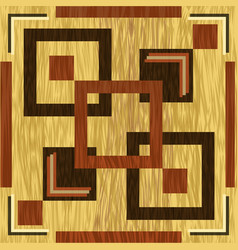 Wooden square inlay dark wood patterns on light vector