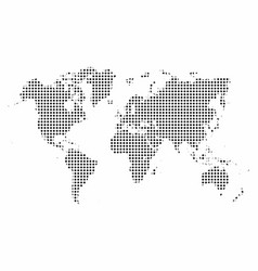 world map map dots pop art style background vector image