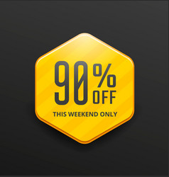 yellow sale label vector image