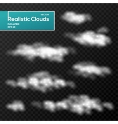 Abstract clouds elements on black background vector image
