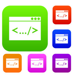 code window set collection vector image vector image