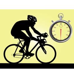 cycle racing vector image vector image