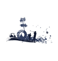 different Golf Silhouettes vector image vector image