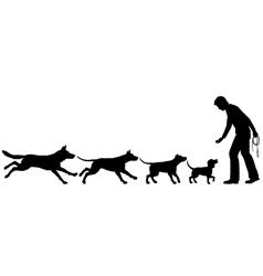 Dog domestication vector image