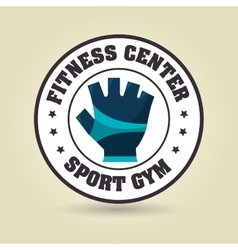 glove sport gym icon vector image