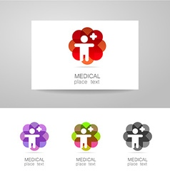 medical logo set vector image