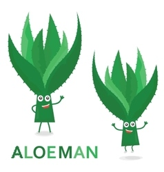 Aloe characters Cartoon Aloe Man isolated on vector image vector image