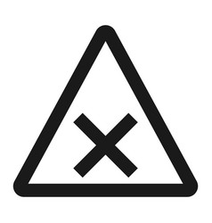 crossroads sign line icon traffic and road sign vector image