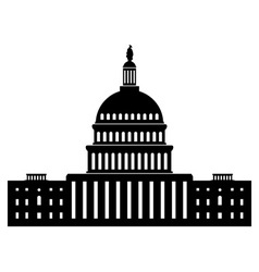 Icon of capitol building vector