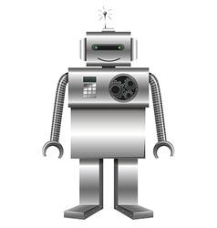 Robot made of metal vector image