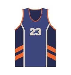 basketball jersey icon vector image