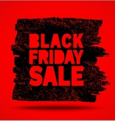 Black Friday Sale hand drawn grunge stain on red vector image