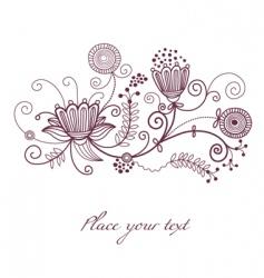 floral illustration vector image vector image