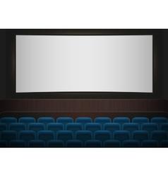 Interior of a cinema movie theatre blue cinema or vector