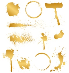 set of golden blots vector image vector image