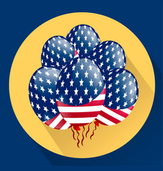 usa patriotic balloons colored specially for the vector image vector image