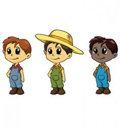 boy mascots vector image vector image