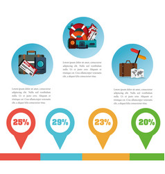 brochure travel promotion infographic vector image vector image